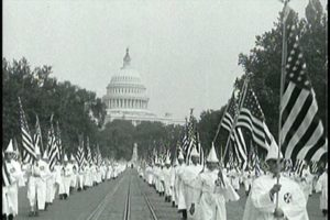 kkk-carrying-american-flag